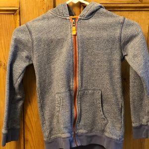 Boys Mini Boden Hoodie zip up sweatshirt
